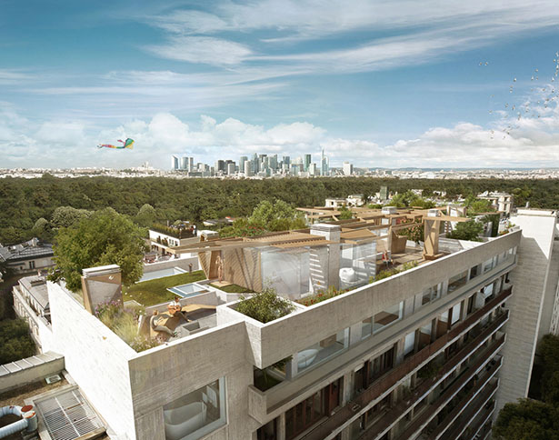 Foret Urbaine Paris by Matteo Cainer Architecture
