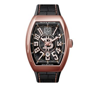 Franck Muller Vanguard Encrypto Watch with Bitcoin Wallet Address