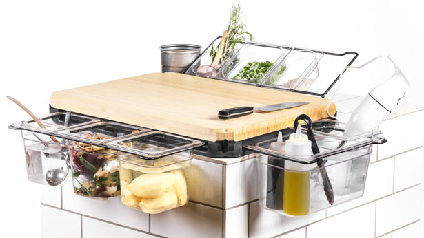 Frankfurter Brett Kitchen Workbench for More Organized Kitchen - Tuvie