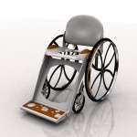 Freemode Lightweight Wheelchair Made of Fiberglass