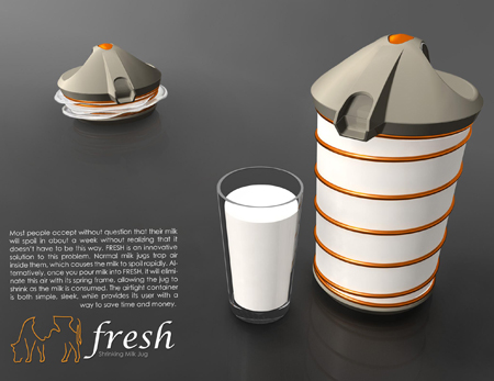 Fresh : Shrinking Milk Concept Jug