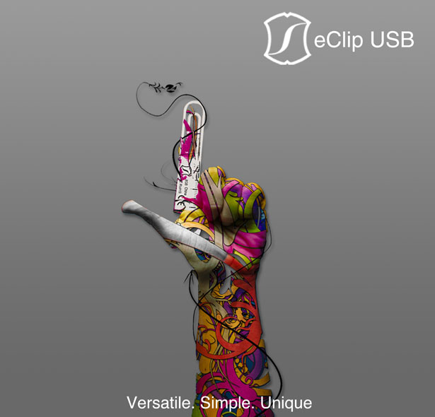Frohne eClip Paper Clip USB with Metric Ruler