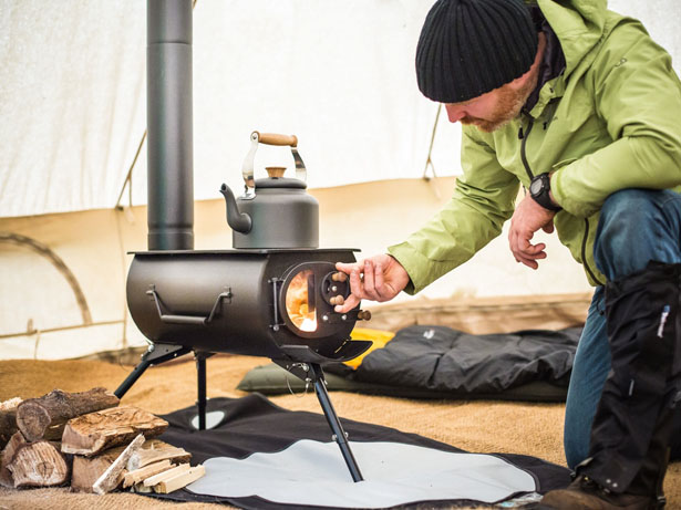 Frontier Plus - Portable Woodburning Stove by Anevay - Frontier Plus €� Portable Woodburning Stove Can Be Installed In