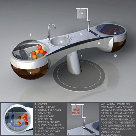 fruit of life futuristic tree kitchen concept tuvie
