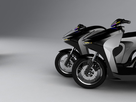 fuel cell scooter concept