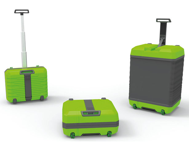 Fugu Luggage : Expandable Suitcase That Grows from A Cabin Bag to Maximum Regulation Sized Check-In