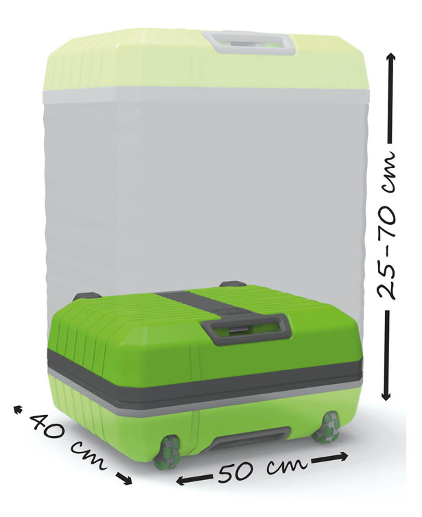 Fugu Luggage Expandable Suitcase