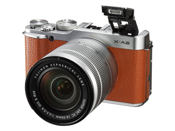 FUJIFILM X-A2 Interchangeable Lens Camera with 175-degree Tilting LCD