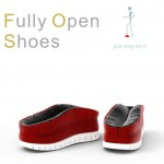 Fully Open Shoes : Put On Your Shoes Simply by Stepping On Them