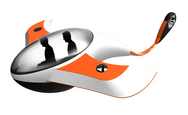Futuristic Flying Transportation Concept by Anoop M