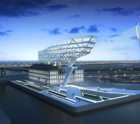 Architecture on Future Headquarters Of Antwerp Port Authority By Zaha Hadid Architects