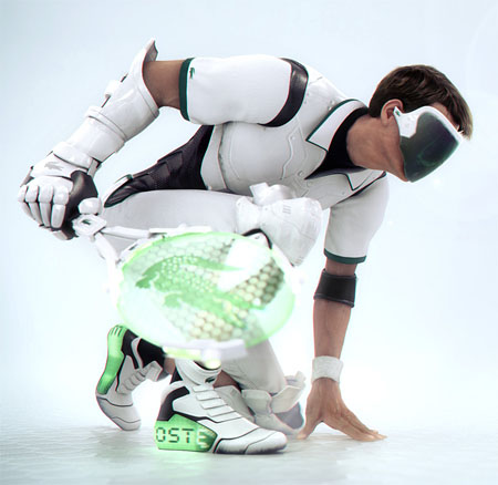 futuristic tennis with lacoste