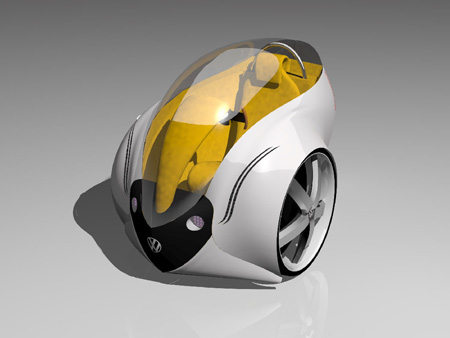 futuristic 2020 personal vehicle
