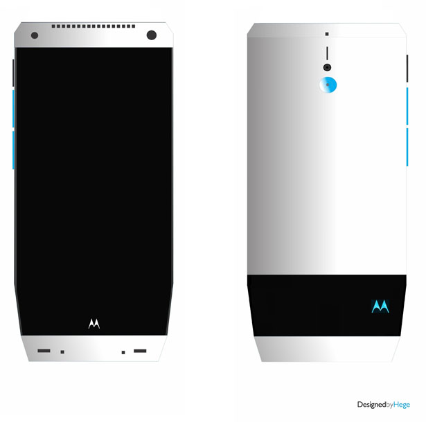 Futuristic Concept Phone Proposal for Motorola by Mladen Milic
