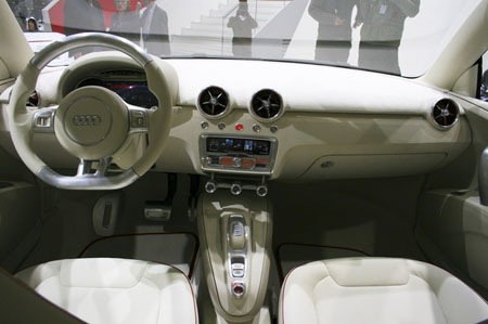 futuristic dashboard at paris motor show