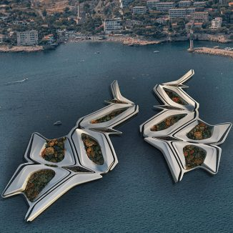 Futuristic Floating Green City Creates Symbiotic Relationship with Its Environment