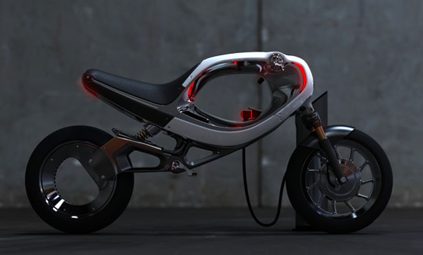 Futuristic Frog eBike Features Hubless Rear Wheel and Void Body