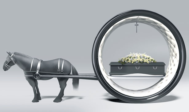 The Last Ride : Futuristic Funeral Carriage by Hamid Bekradi