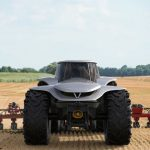 Futuristic H202 Tractor Concept - All Electric Tractor with Autonomous Driving System