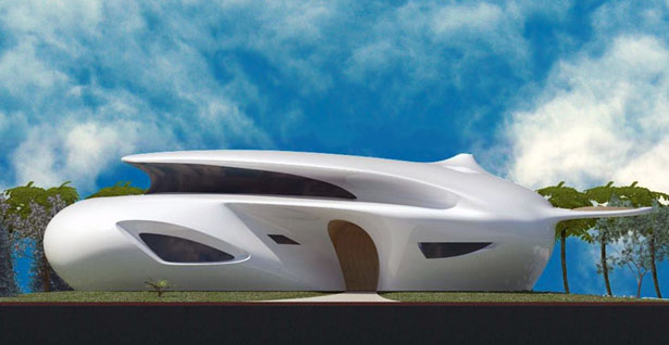 Futuristic house biomorphism by ephraim henry pavie for Futuristic home plans