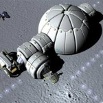 Futuristic Instant Moon Base for Astronauts