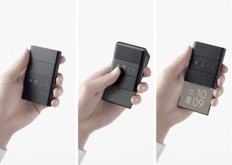 Futuristic Oppo x Nendo Foldable Slide Phone Concept Folds Down To The Size of a Credit Card