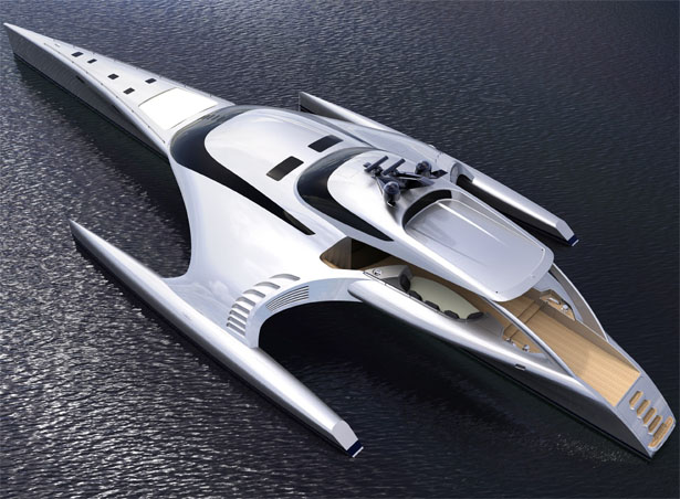 futuristic superyacht adastra by John Shuttleworth