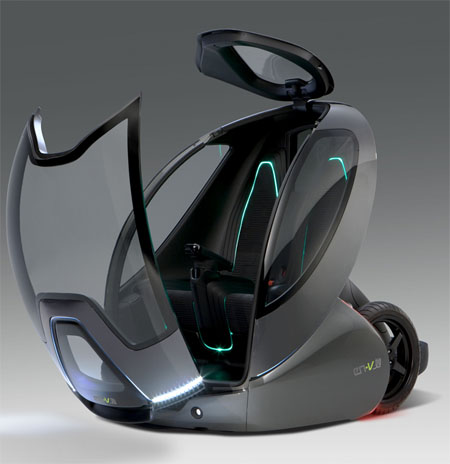 futuristic vehicles en-v by gm