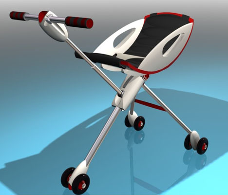 G-Stroller Is A Combination of A Stroller, A Baby Bed, and A Baby Tub
