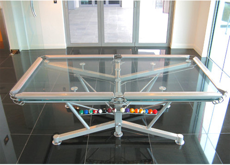 The G Billiard Table Can Offer Unique Transparent Playing - Billiard table height