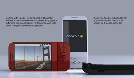 g1 mobile phone concept for google