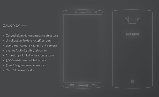 Samsung Galaxy S5 Concept Mobile Phone by Maël Oberkampf