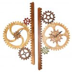 Artistic Garden Gears Outdoor Clock and Thermometer by Chris Crooks