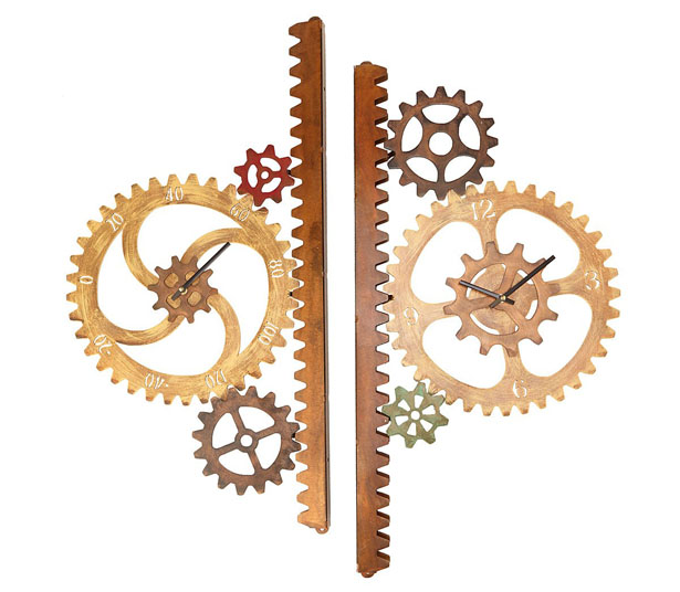 Garden Gears Outdoor Clock and Thermometer by Chris Crooks