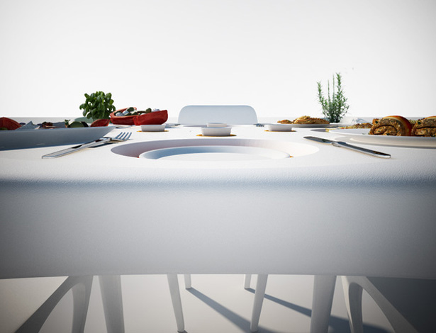 Garden Unique - Bye Bye Wind Table by Marco Marotto and Paola Oliva