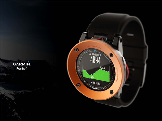 Garmin Fenix 4 Watch by Sylvain Gerber