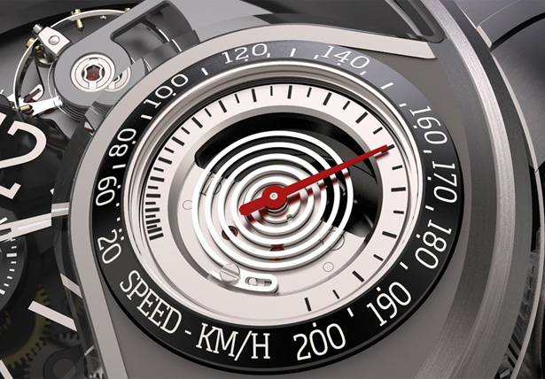 Génie 03 :  A Wristwatch with a Functional Speedometer