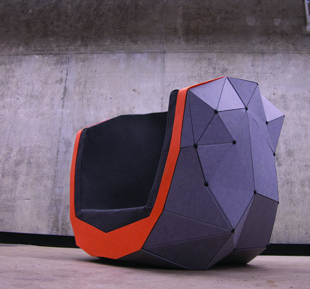Geode : Modern Chair That Offers A Sense of Privacy and Keeps Out Visible Distractions
