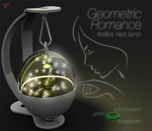 Geometric Romance - Beautiful Firefly Nest Lamp Concept by Tommaso Gecchelin