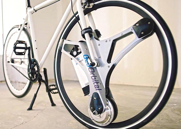 GeoOrbital Wheel Transforms Your Bicycle Into Electric Bike in 60 Seconds