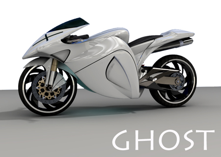"""Ghost Concept Motorcycle was Inspired by """"Ghost Rider"""" and Flying Falcon"""