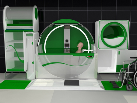 global bathroom concept for disabled people