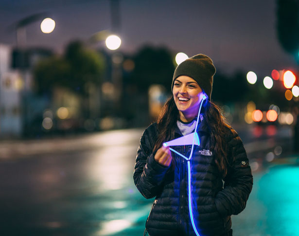 Glow Smart Headphones with Laser Light