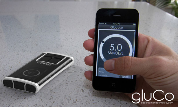 Gluco Diabetes Management Device by Sam Whipp
