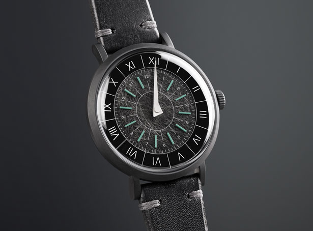 Gnomon watch - unique, single handed, sundial inspired watch