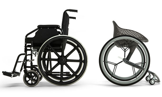 GO : 3D-printed Concept Wheelchair Accurately Fits Your Body Shape, Weight, and Disability