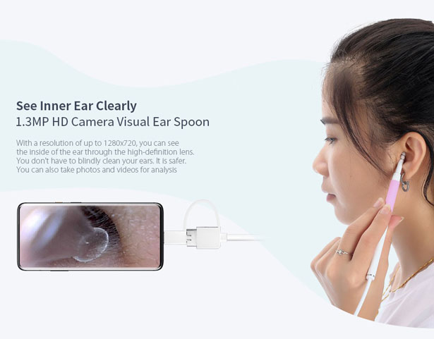 Gocomma AN102 Portable Ear Cleansing Endoscope Allows You to Look Inside Your Ear with Your Phone