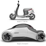 Futuristic Gogoro Autopack Concept Vehicle for Services by Po-Yuan Huang