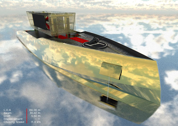 Golden Gate 136M Yacht by Bongyoel Yang