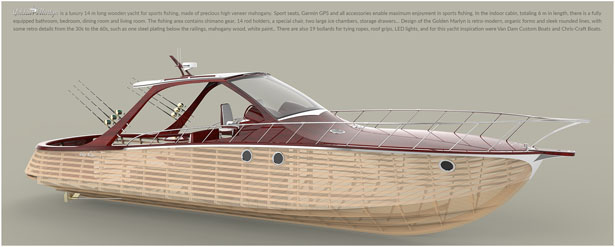 Golden Marlyn Luxurious Wooden Yacht for Sports Fishing by Nebojsa Anicic